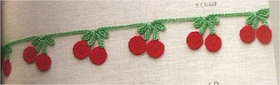 Crochet Cherry border picture